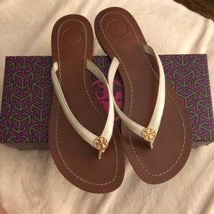 Tory Burch Terra Thong Leather Flip Flop